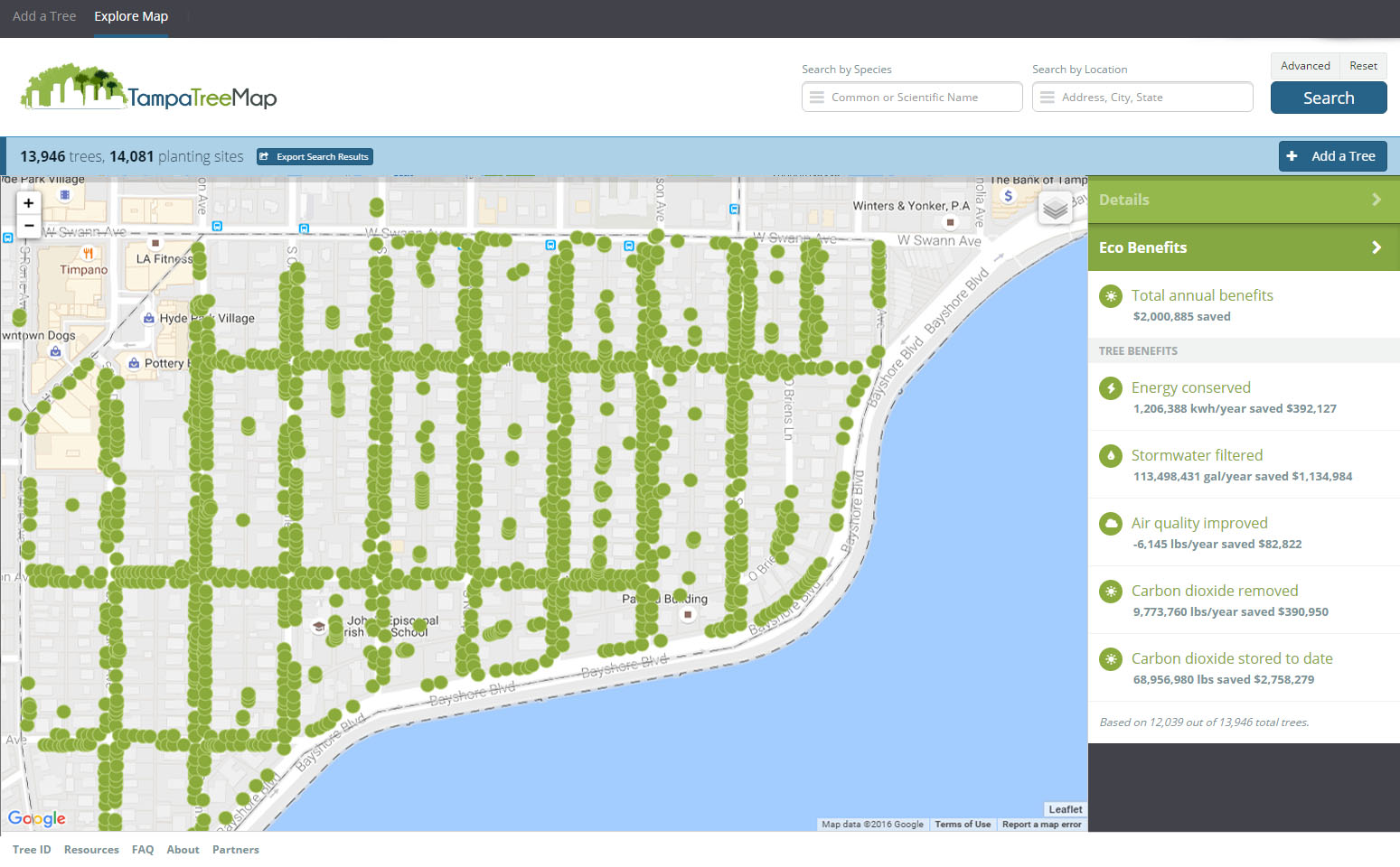 Tampa Tree Map What Is New In Version - Usf location map